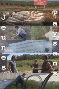 Affiche jeunes agriculteurs avec texte